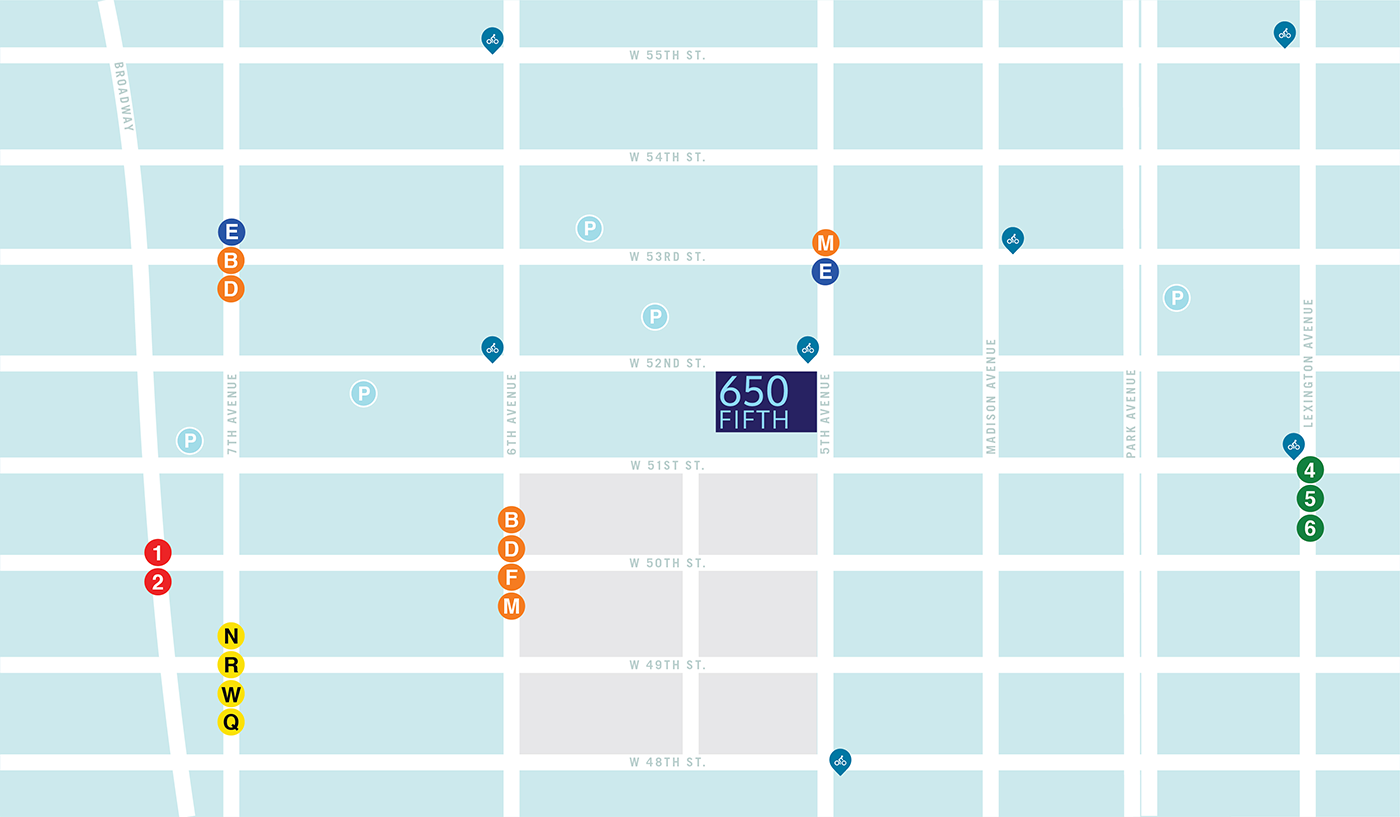 650 Fifth Avenue Base Map